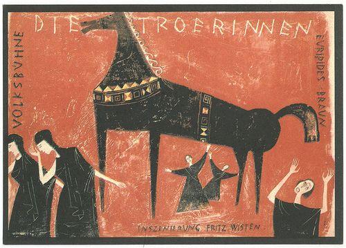 Euripides & Matthias Braun's Die Troerinnen, dir. Fritz Wisten (1961). Design Karl von Appen.