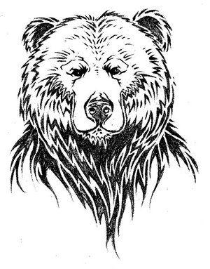 Simple Tattoo Design Of Bear Face Jpg 300 383 Piksel Bear Paw Tattoos Bear Tattoo Brown Bear Art
