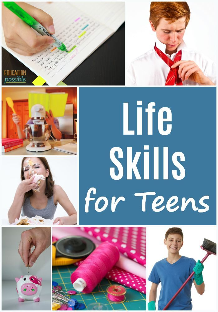 Life Skills for Teens is part of Life skills classroom, Life skills kids, Life skills lessons, Teaching life skills, Life skills class, Life skills activities - As kids start middle school, it's time to be intentional about adding life skills for teens to your homeschool lesson plans  This list has a ton to choose from