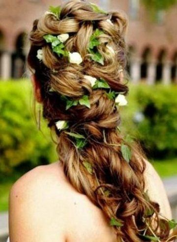 Bridal Hairstyles For Long Hair With Flowers : Photo 2 fleurs 852 236 fêtes noël st valentin halloween