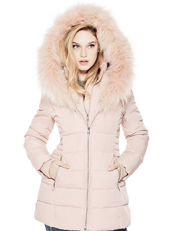 Sammi Faux Fur Jacket Guess Ca With Images Hooded