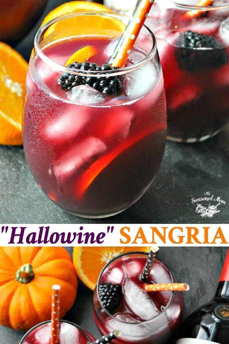 Hallowine Sangria Recipe Halloween Party Drinks Easy Halloween Cocktails Easy Halloween Party