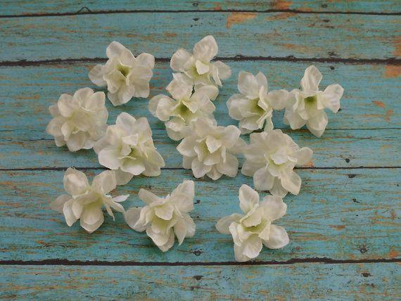 Silk flowers 12 very small cream white delphinium blossoms flower silk flowers 12 very small cream white mightylinksfo