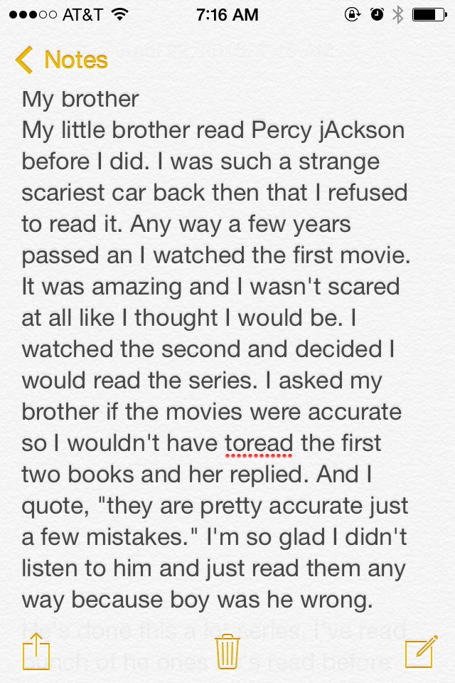 My brother. How could he? I'm glad I didn't listen and read them anyway