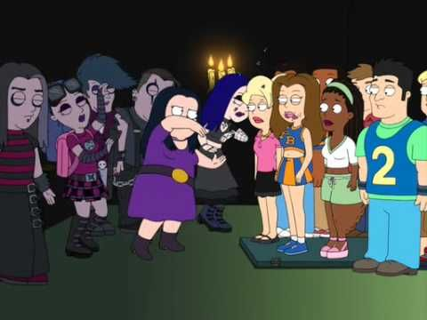 Debbie Hyman And Her Goth Friends American Dad Escape From
