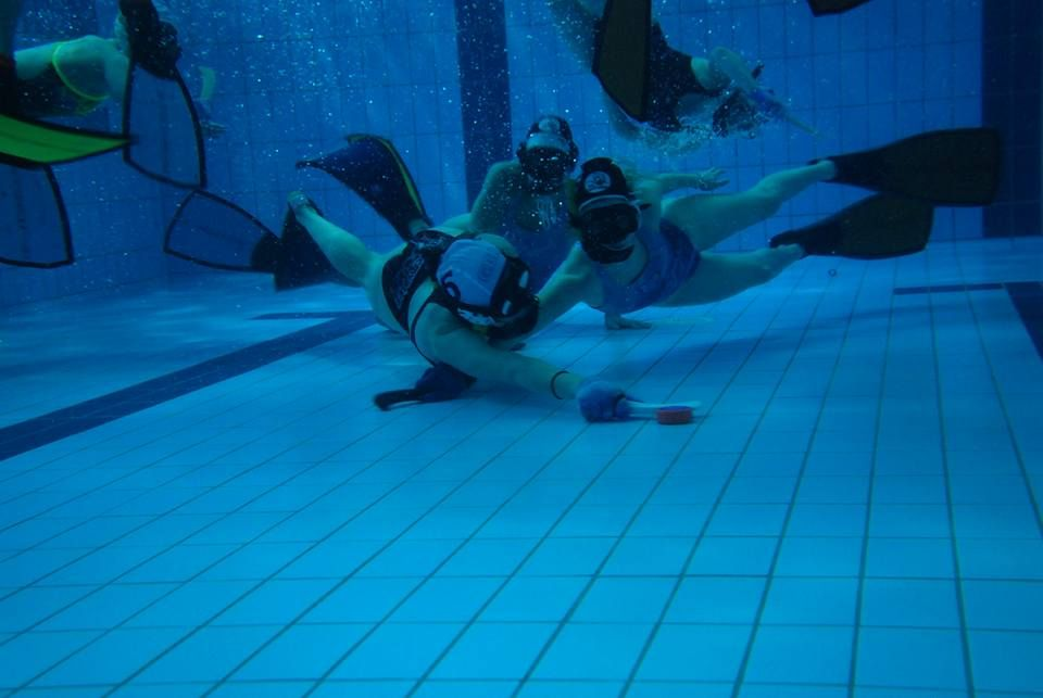 Pin On Underwater Hockey