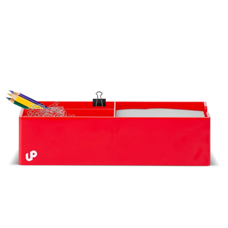 Brighten Up Red Desk Organizer