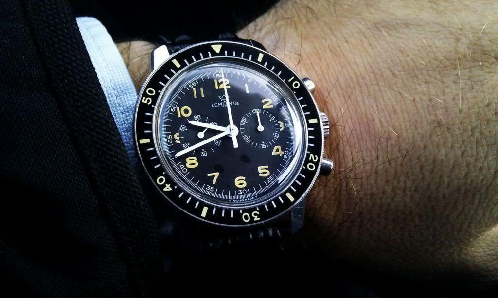 "Lemania Swedish Air Force ""Viggen"" chronograph"