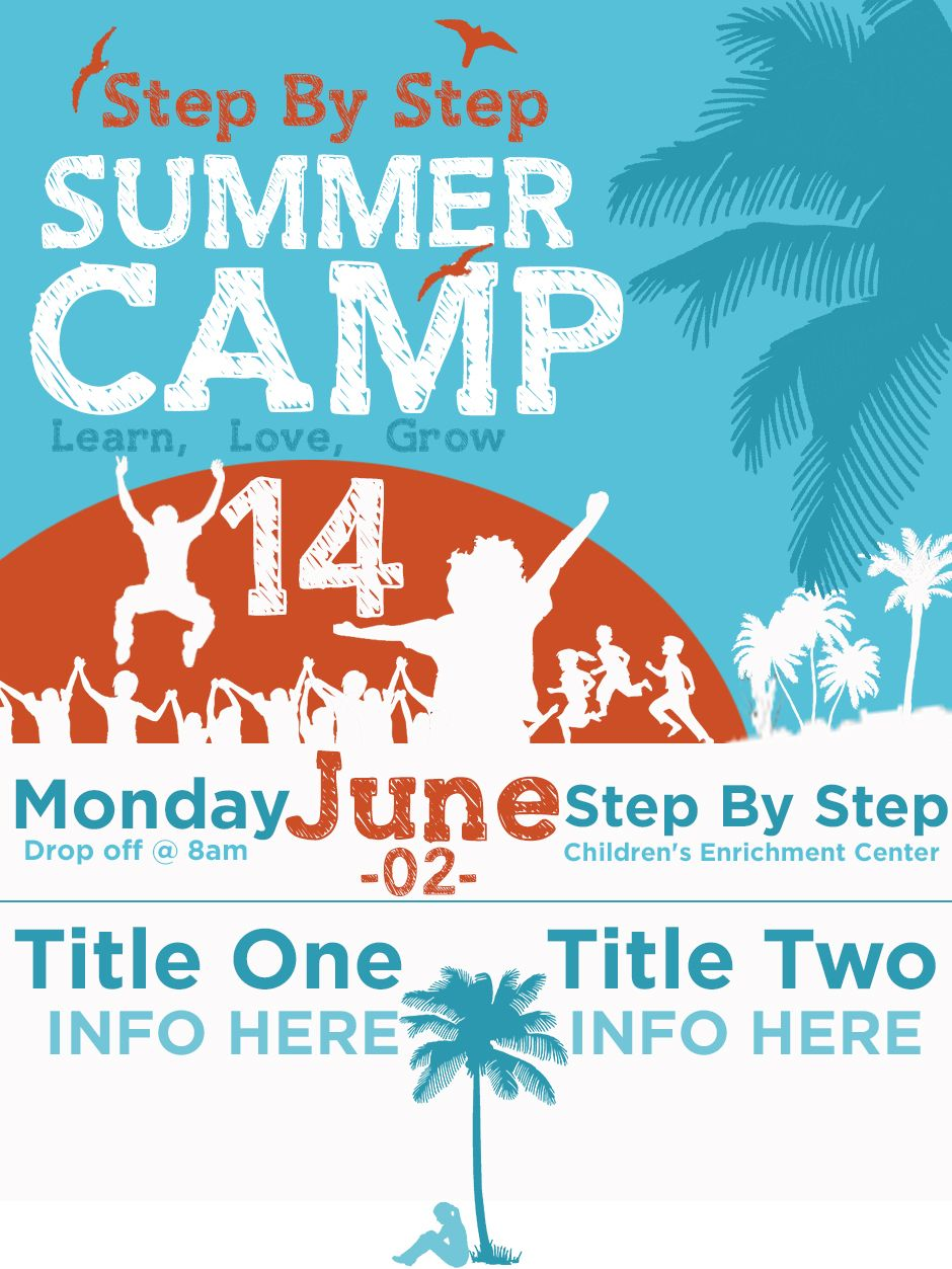 step by step   summer camp poster