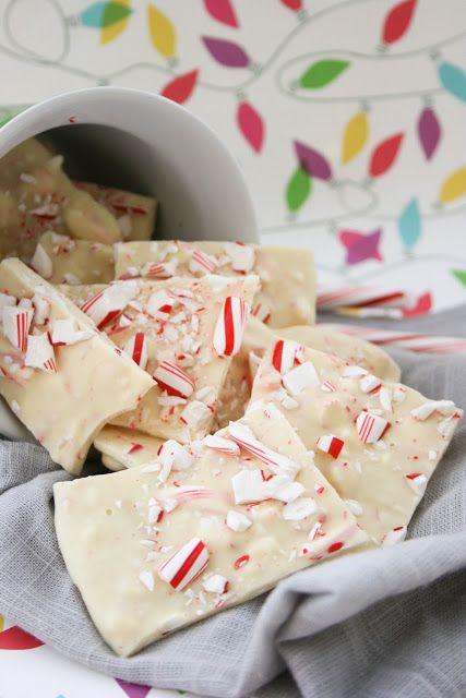 Christmas treat recipe Candy Cane Bark Christmas Recipes Pinterest