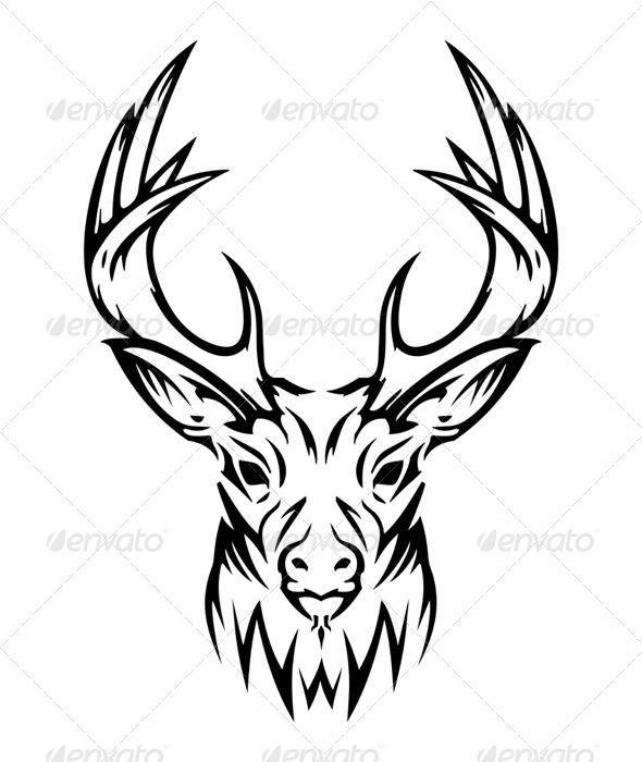 Tribal Elk Head Drawings 1000 Images About Art On Pinterest Tribal Deer Skull Drawing Deer Head Tattoo Deer Drawing