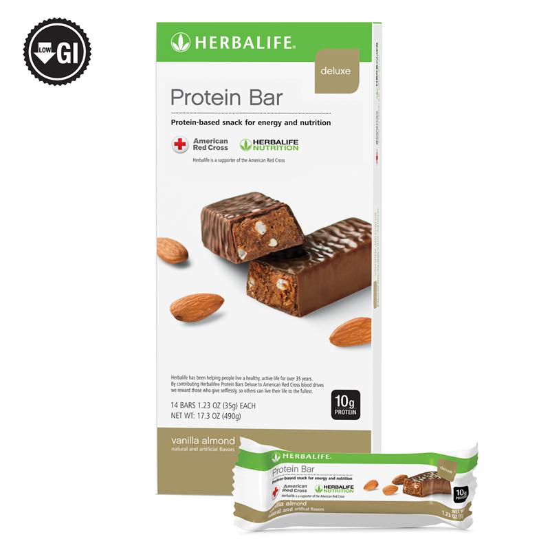 Protein Bar Deluxe Vanilla Almond 14 Bars Per Box Herbalife Protein Bars Protein Bars Herbalife Protein