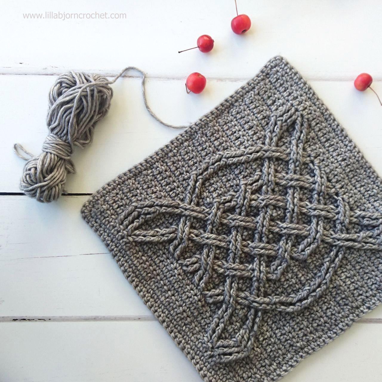 Celtic crochet square - free pattern by Lilla Bjorn | Crochet ...