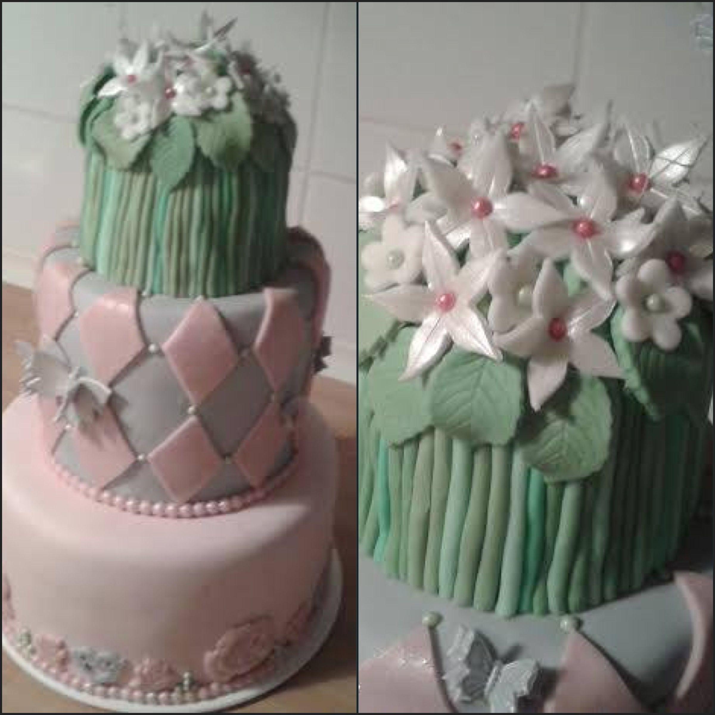Prvý pokus poschodovej  torty.