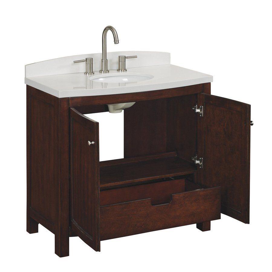 Moravia Moravia Sable Undermount Bathroom Vanity With - Allen and roth bathroom vanities for bathroom decor ideas