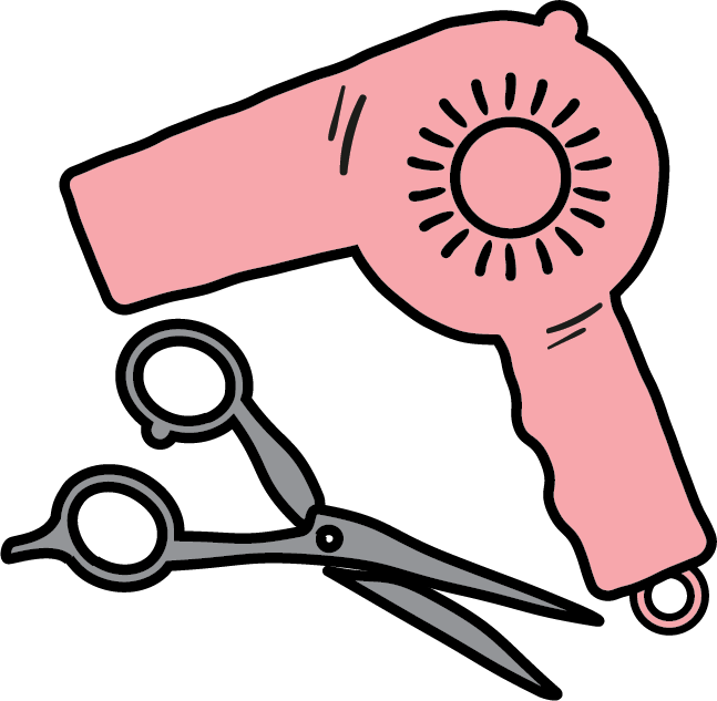 Hairdresser Icon Hair Dryer Clipart Beauty Salon