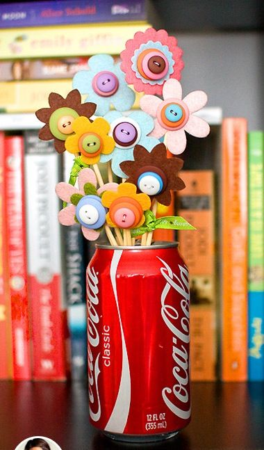 Button flowers yes please we need some of these in our for Button crafts for adults
