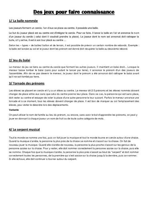 Faire connaissance eps cycle 3 [PUNIQRANDLINE-(au-dating-names.txt) 51