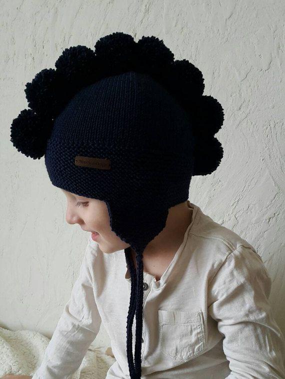 Photo of Wolle hat Baby hat Pompon hat Merino hat gestrickt hat Winter hat Trapper hat gestrickt hat …