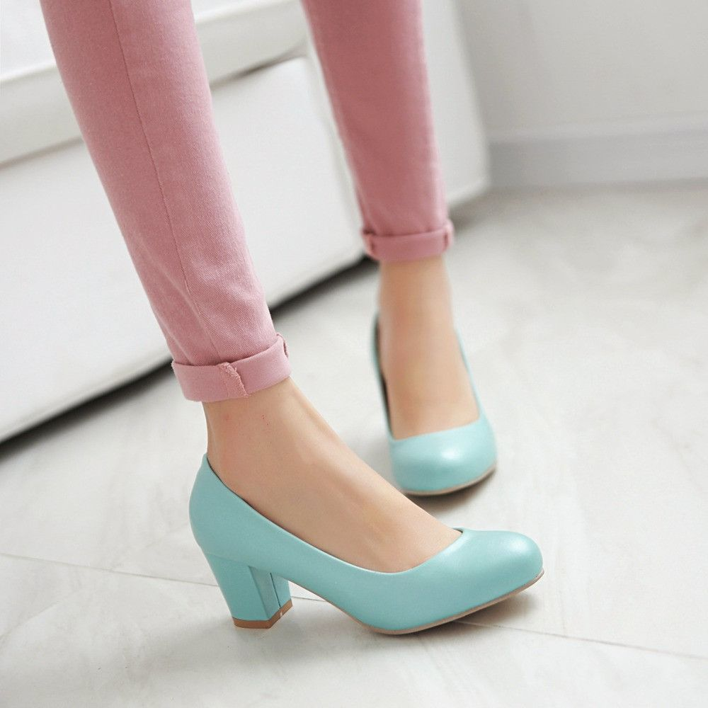 217e4e10504 Heels: approx 6 cm Platform: approx - cm Color: Black, White, Beige, Pink,  Blue Size: US 3, 4, 5, 6, 7, 8, 9, 10, 11, 12 (All Measurement In Cm And  Please ...