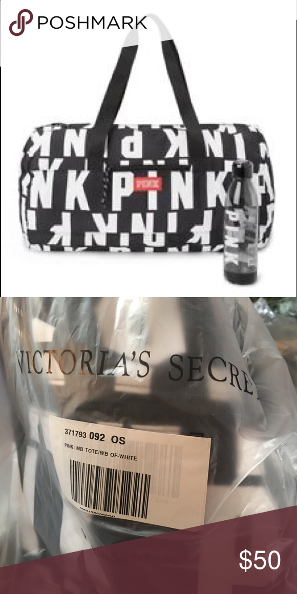 Victoria s Secret Pink duffle bag   water bottle ❗️BRAND NEW ❌ NO OFFERS  ACCEPTED ❌NO FREE SHIPPING ❌NO CANCELLATIONS ❗️ADDRESS ALL QUESTIONS BEFORE  ... 0119d162e3a2f