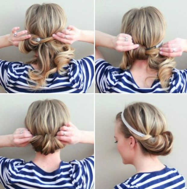 15daystoddg 5 Minute Hairstyles For Any Hair Type Day 14 Dropdeadgorgeousdaily Com Medium Hair Styles Curly Hair Styles Hair Styles