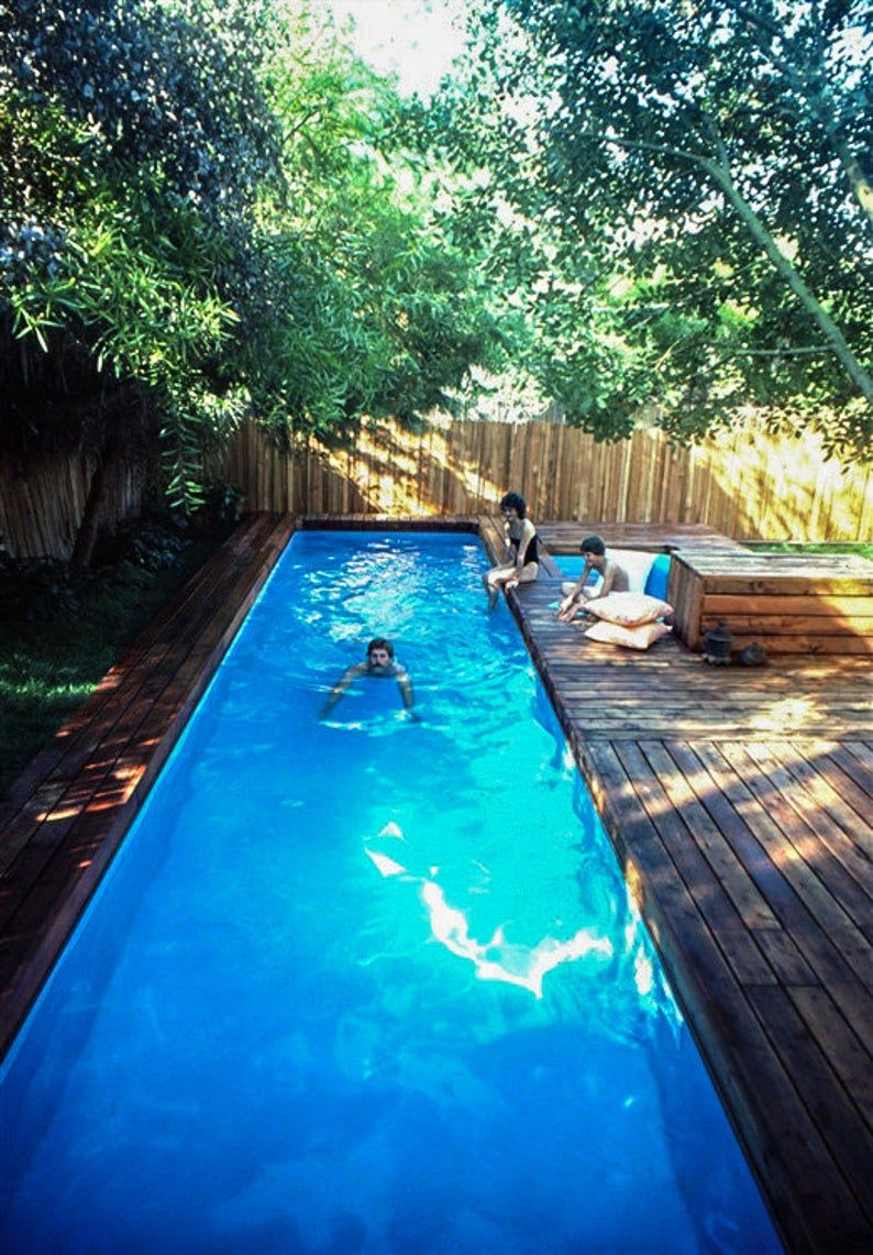 Lap Pool And Spa Plans Diy In Ground Pool Digital Plans Etsy Lap Pools Backyard Diy In Ground Pool Small Pool Design