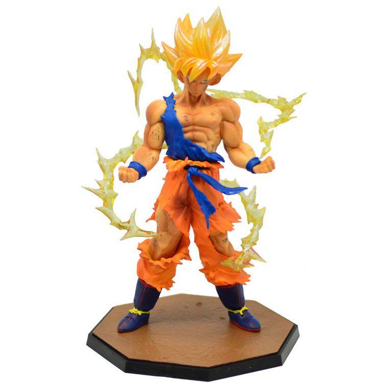 Anime Dragon Ball Z Super Saiyan Goku blue PVC Action Figure Collectible Toy