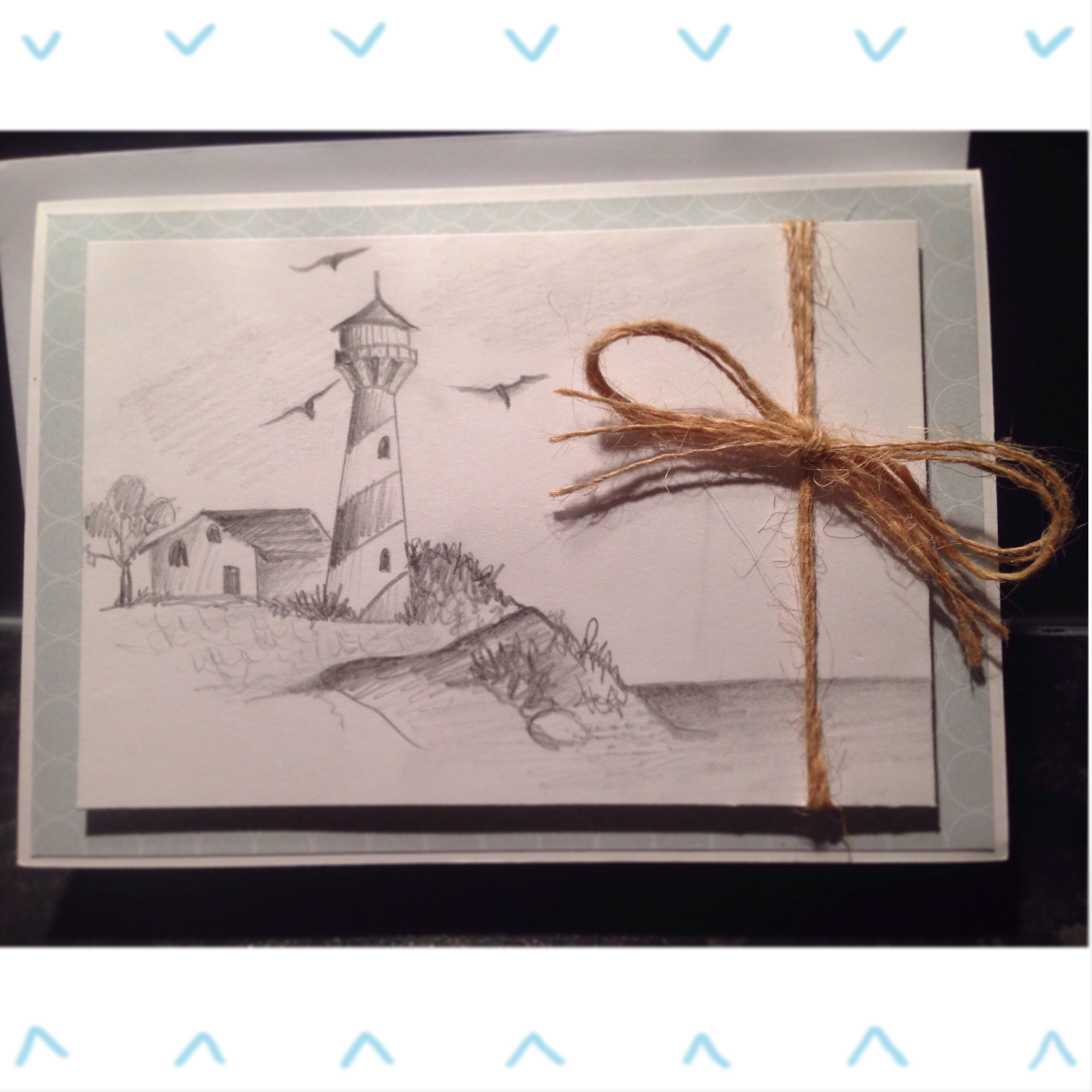 Homemade lighthouse sketch father in law birthday card with twine homemade lighthouse sketch father in law birthday card with twine kristyandbryce Choice Image