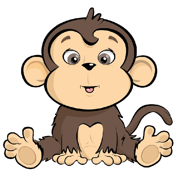 cartoon monkey image_14png 600600 - Simple Cartoon Pics