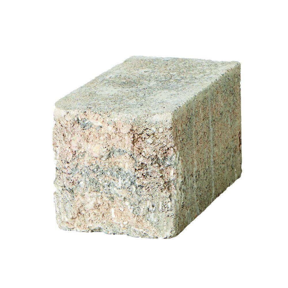 SplitRock 3.5 in. x 7 in. Small Char/Tan Retaining Wall Block (288-Pieces per Pallet), Charcoal Tan