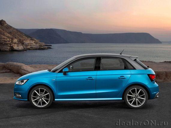 Hetchbek Audi A1 Sportbek 2015 Audi A1 Sportback 2015 Vid Sboku