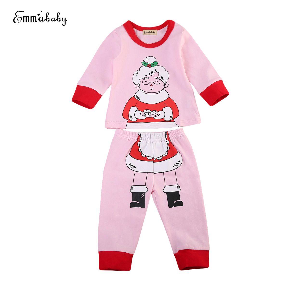 Baby Kids Xmas Pjs Clothing Set Newborn Boy Girl Pyjamas Night Suit ...