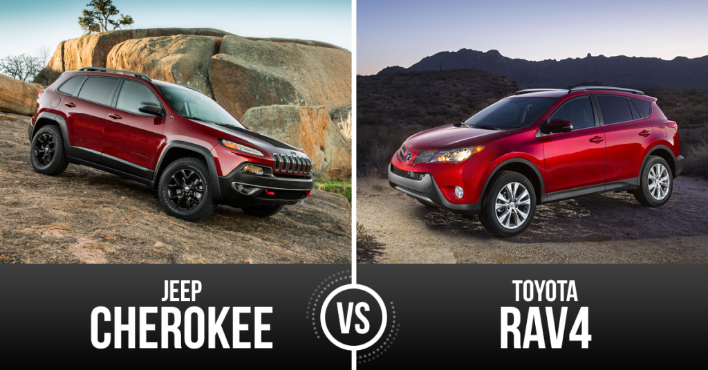 Suv Vehicle Matchup Toyota Rav4 Vs Jeep Cherokee Suv Cars
