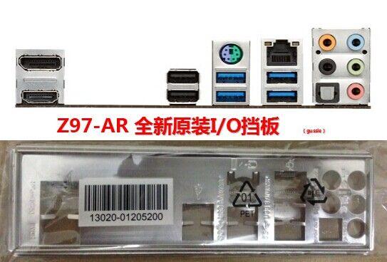 Original I//O IO shield Asus Z97-AR BRACKET backplate