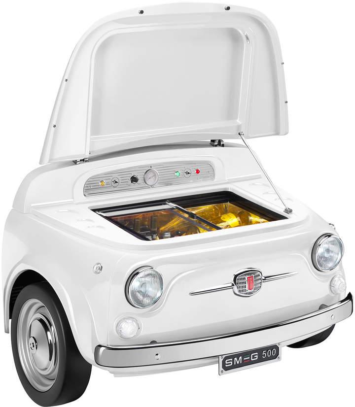 Fiat X Smeg White Electric Cooler Oil Painting Portrait Diseno