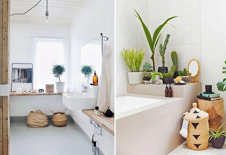 Inspiration décoration salle de bain Quelques panier pour un style