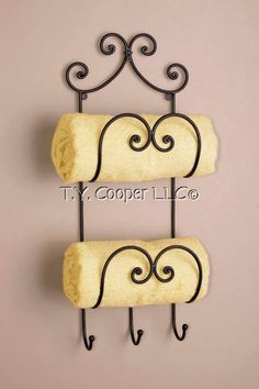 Wrought Iron Metal Bathroom Bath Towel Holder