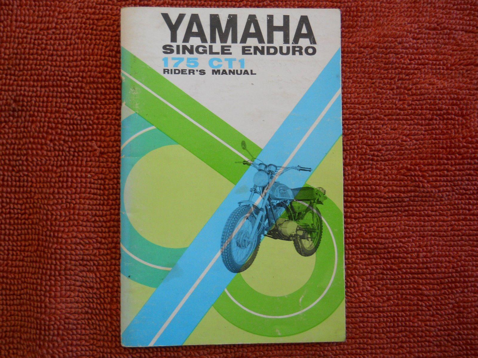Original Yamaha 1969 CT1 175 Vintage Enduro Owners Manual Handbook Ct 1 Ct  1 69 | eBay