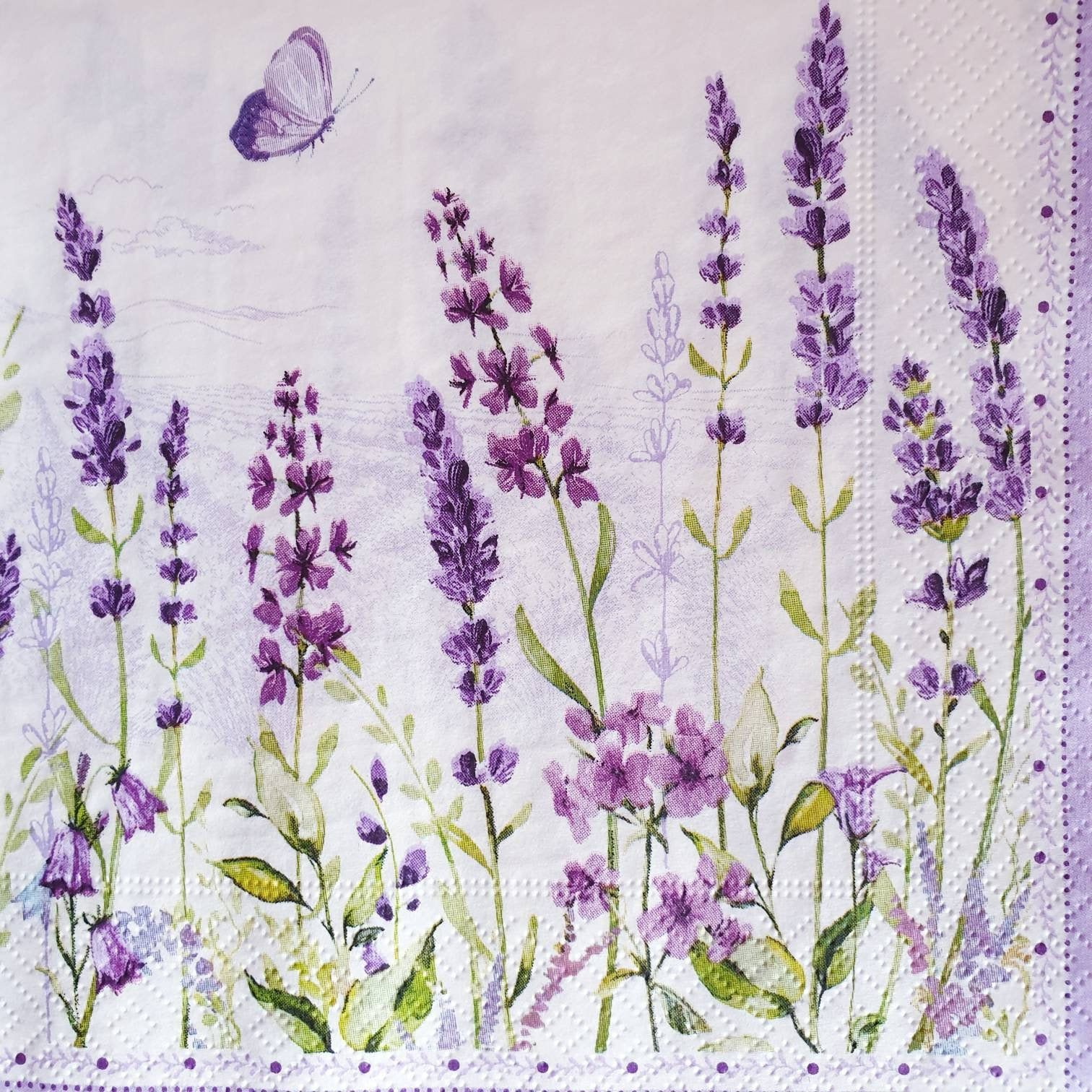 Decoupage Craft Lavender light purple 4x Paper Napkins for Party