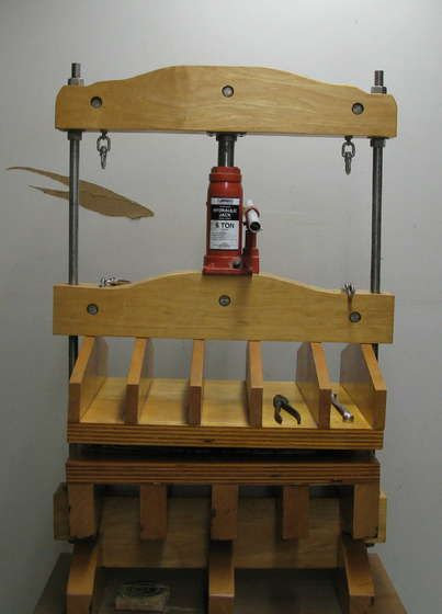 Make your own printing press! Amazing.