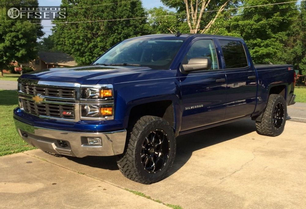 Wheel Offset 2014 Chevrolet Silverado 1500 Aggressive 1 Outside