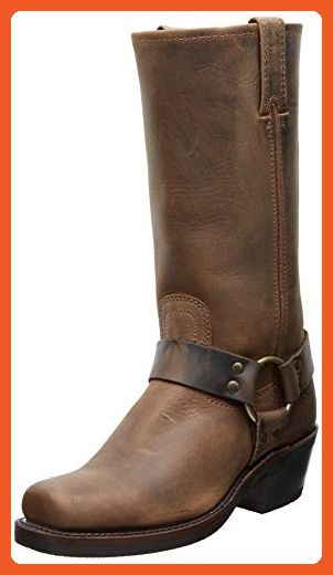 FRYE Women's Harness 12R Boot, Tan Crazy Horse, 7.5 M US - Boots for women (*Amazon Partner-Link)