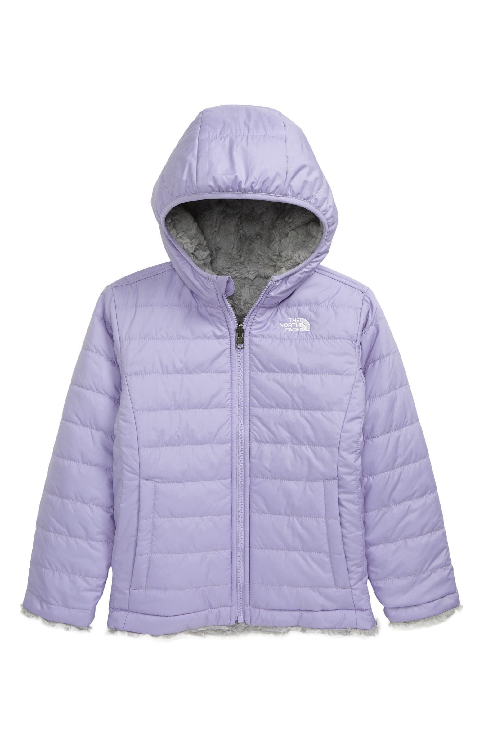 The North Face Kids Mossbud Swirl Reversible Water Repellent Jacket Toddler Little Girl N North Face Kids Girls North Face Jacket Water Repellent Jacket [ 2392 x 1560 Pixel ]