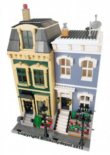 City Residential #4 - 2 Modular Buildings: A LEGO® creation by Brian Lyles : MOCpages.com