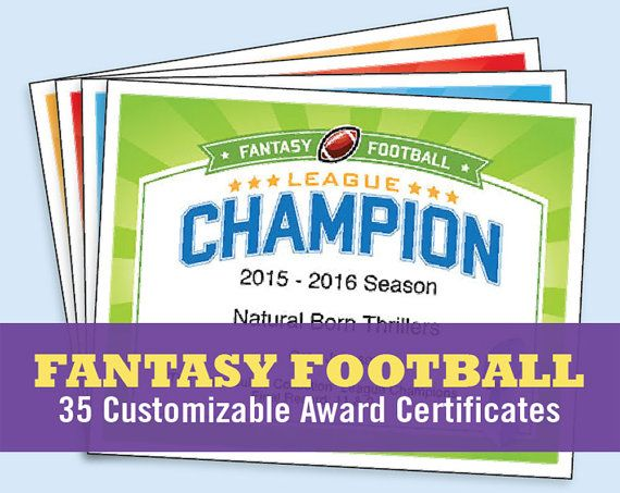 0478ad953e5 Fantasy Football Certificates — The Cranky Commissioner™ complete set  includes 30