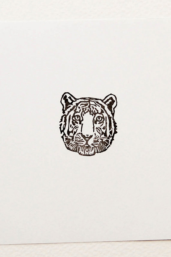 Stamp Wood Stamp Tiger Head
