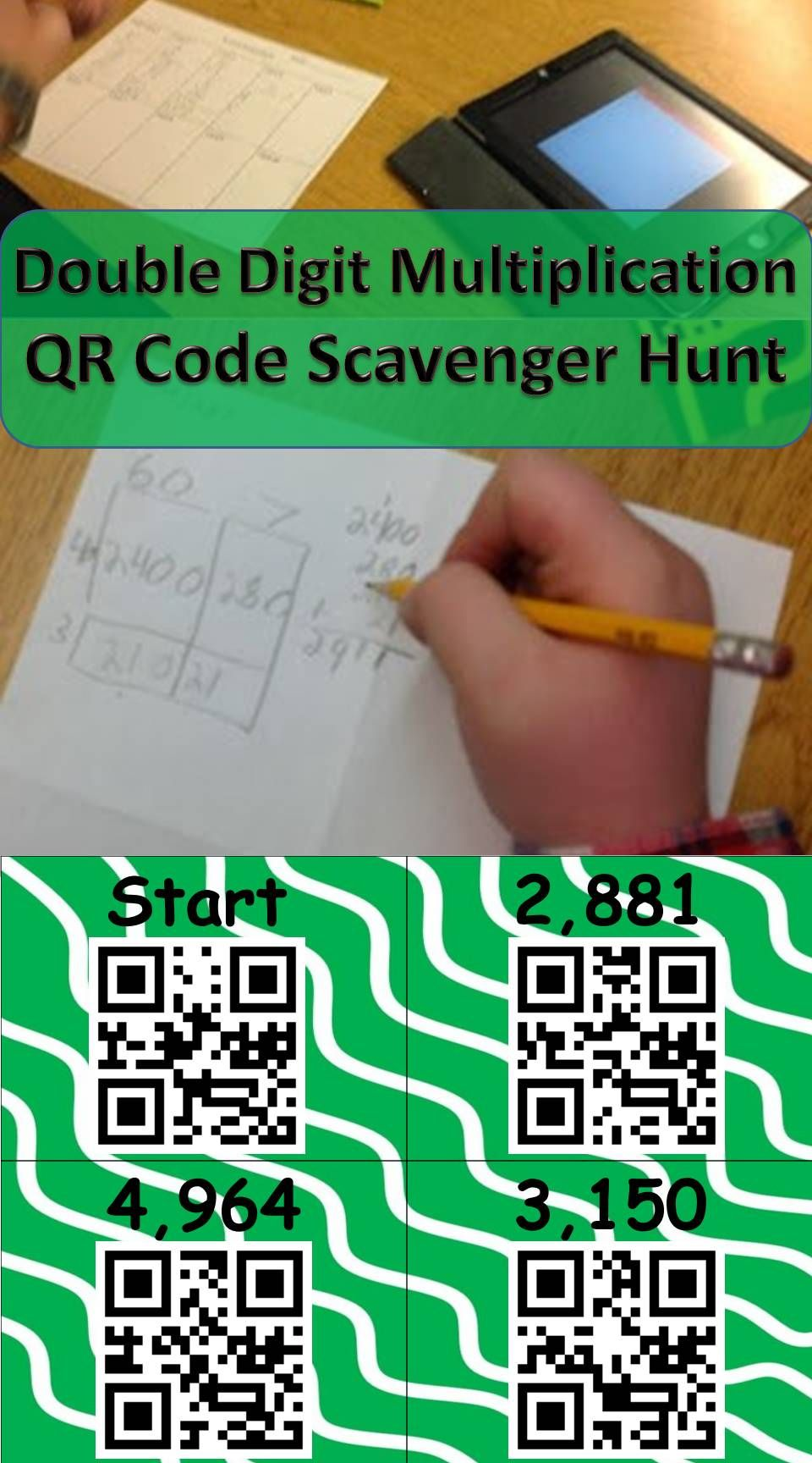 A fun way to practice double digit multiplication! | QR Codes in the ...