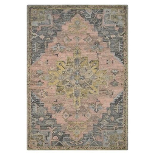 pink and gray vintage wool rug - threshold™ : target | rugs for
