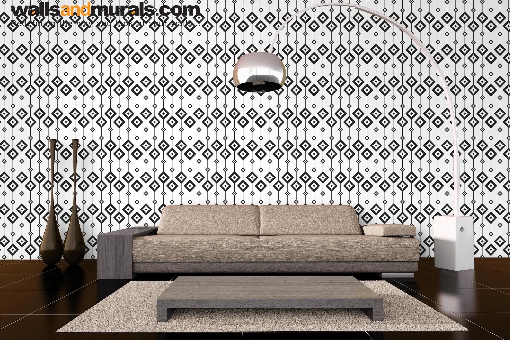 Hanging Squares, Seamless Geometric Wallpaper Pattern